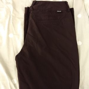 Patagonia size 10 brown microfiber pants